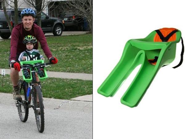 Scaun de copil pentru părinţii biciclişti