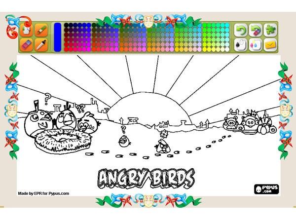Pagini de colorat Angry Birds