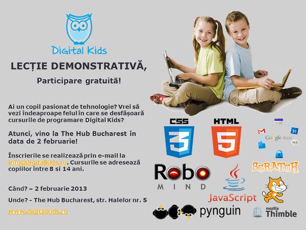 Digital Kids, pentru copiii din era tehnologiei