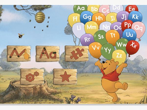Învățăm literele cu Winnie the Pooh