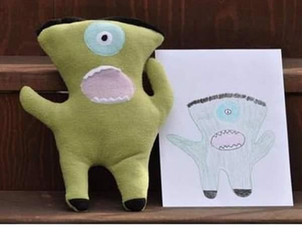 Jucării realizate după desenele copiilor