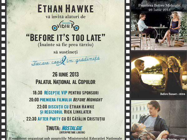 Ethan Hawke susține educația în România