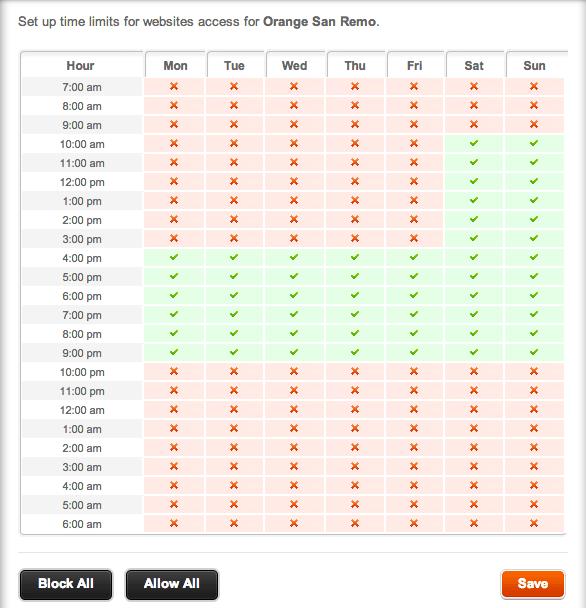 orange content lock