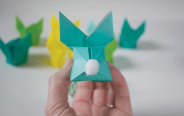 iepuras origami spate