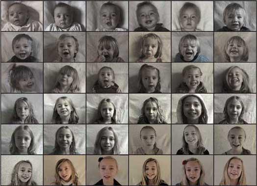 Time lapse cu schimbările prin care trec doi copii