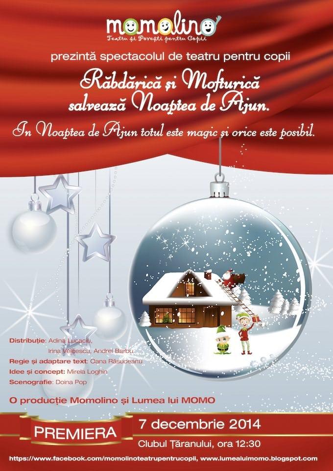 Doi spiriduși, o poveste, teatru pentru copii și Moș Crăciun în avanpremieră