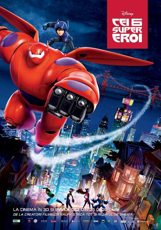 """Concurs colorat cu """"Cei 6 supereroi"""": un film Disney cu ADN Marvel"""