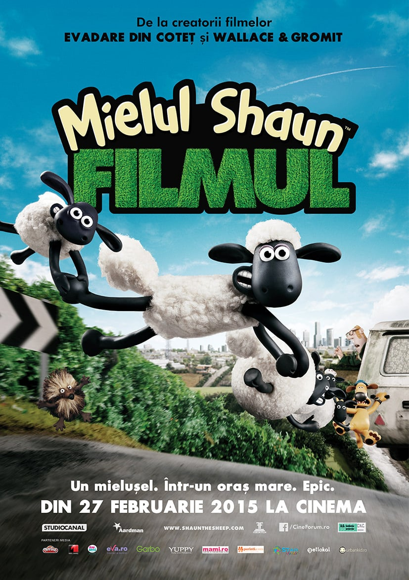 "Invitații la filmul ""Shaun the Sheep The Movie / Mielul Shaun Filmul"""