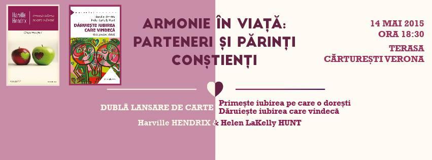 Armonie în viață: parteneri și părinți conștienți [lansare de carte & concurs]