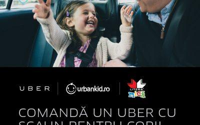UberFAMILY, acum și în București – scaune auto pentru copii în mașinile Uber