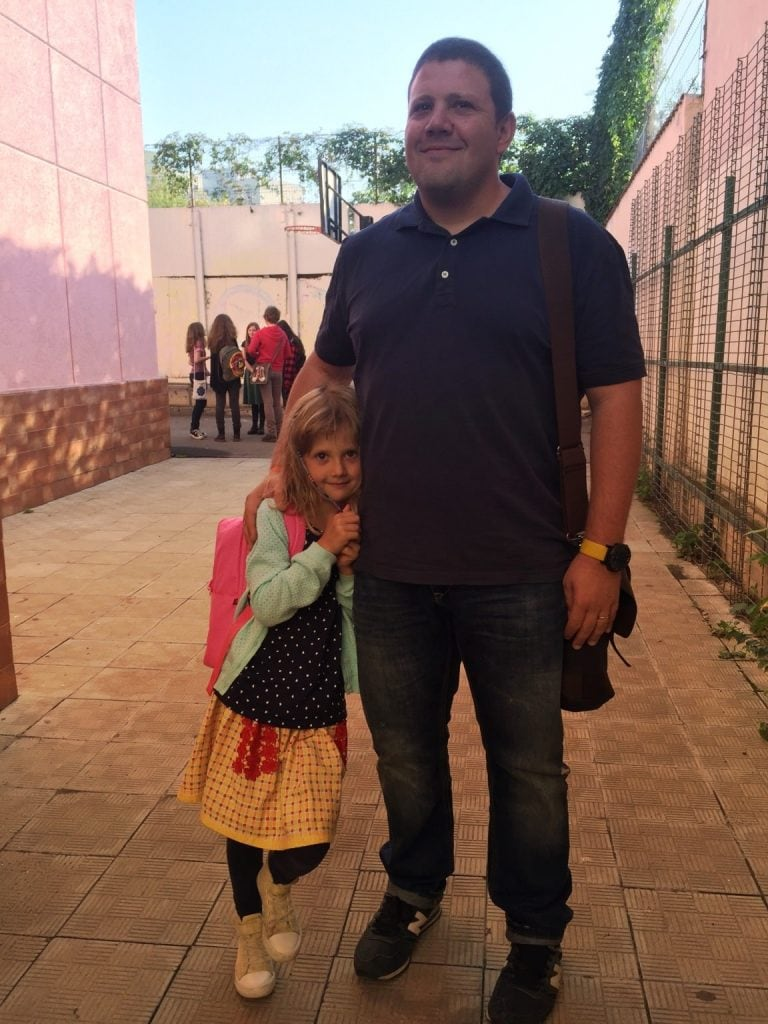 Ioana in prima zi de scoala