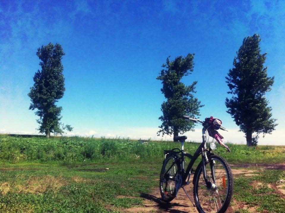 cu bicicleta la tara