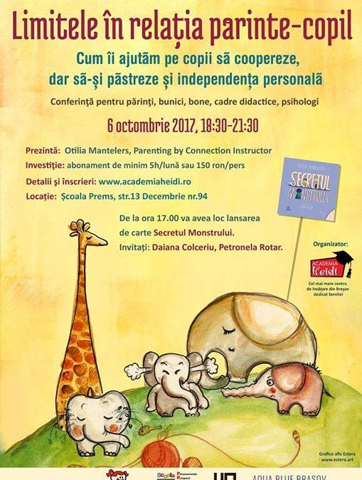 Conferință Otilia Mantelers la Brașov și lansare de carte